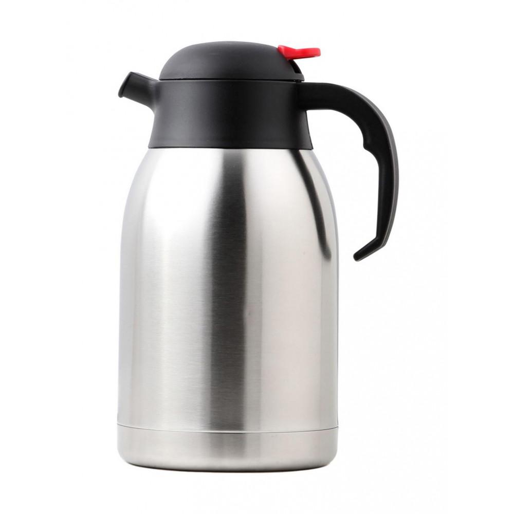 Isoleerkan - Drukknop Rood - 1.5 Liter - RVS - Promoline - HW26190