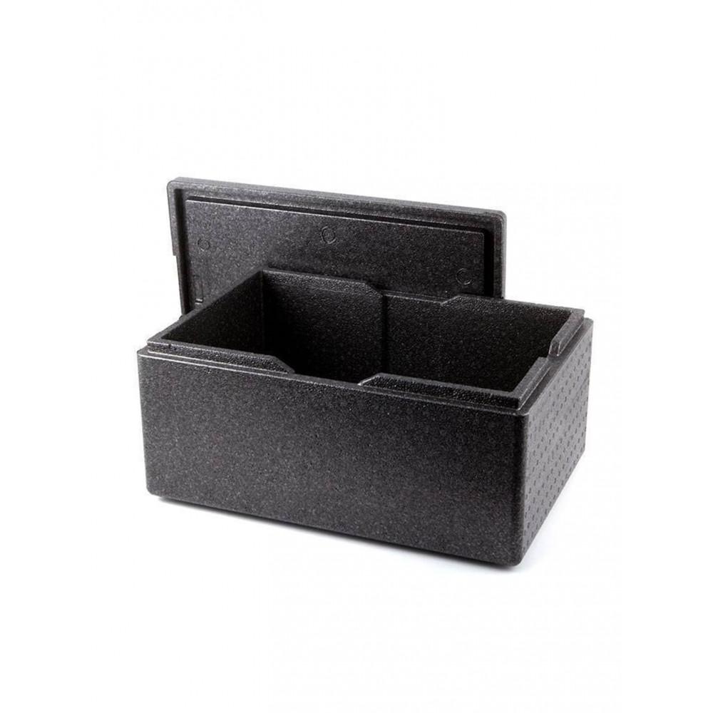 Thermobox - H 30 x 60 x 40 cm - Polypropyleen - Zwart - Promoline