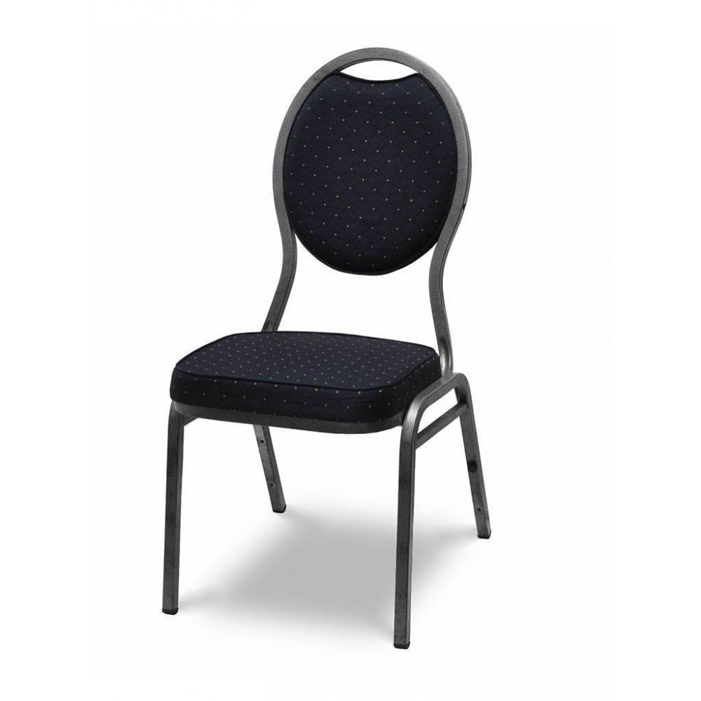 Stackchair / Stapelstoel - Havana Zwart - Hamerslag - Promoline