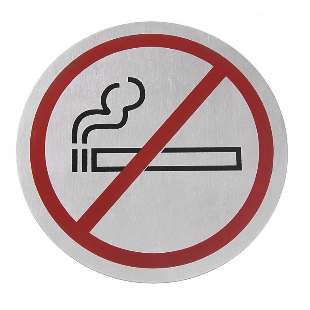 Muurschildjes - Niet roken - Ø 7,5 cm - RVS - 663790
