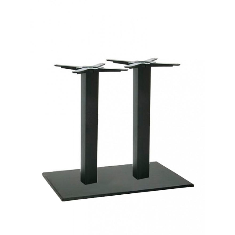 Gietijzeren tafelonderstel - Dubbel - Zwart - Promoline