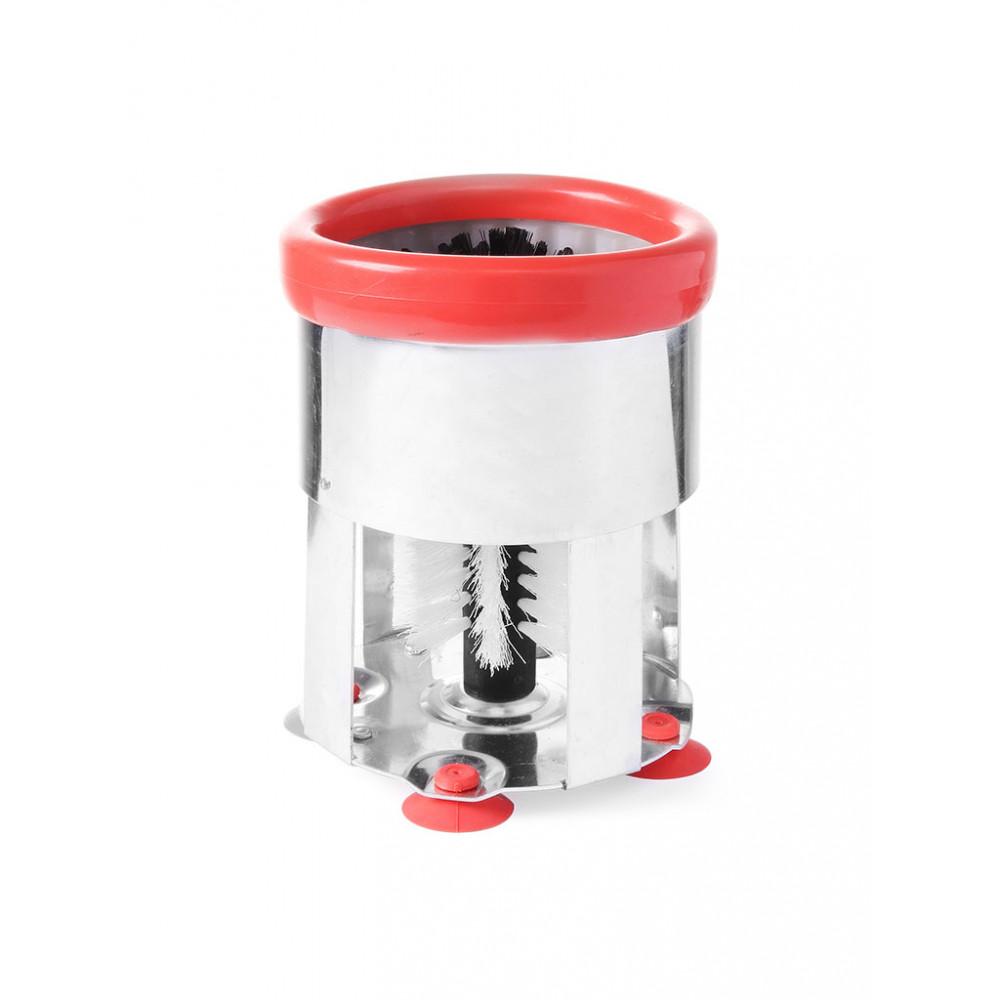 Glazenspoelborstel Rond - Aluminium - Hendi - 552681