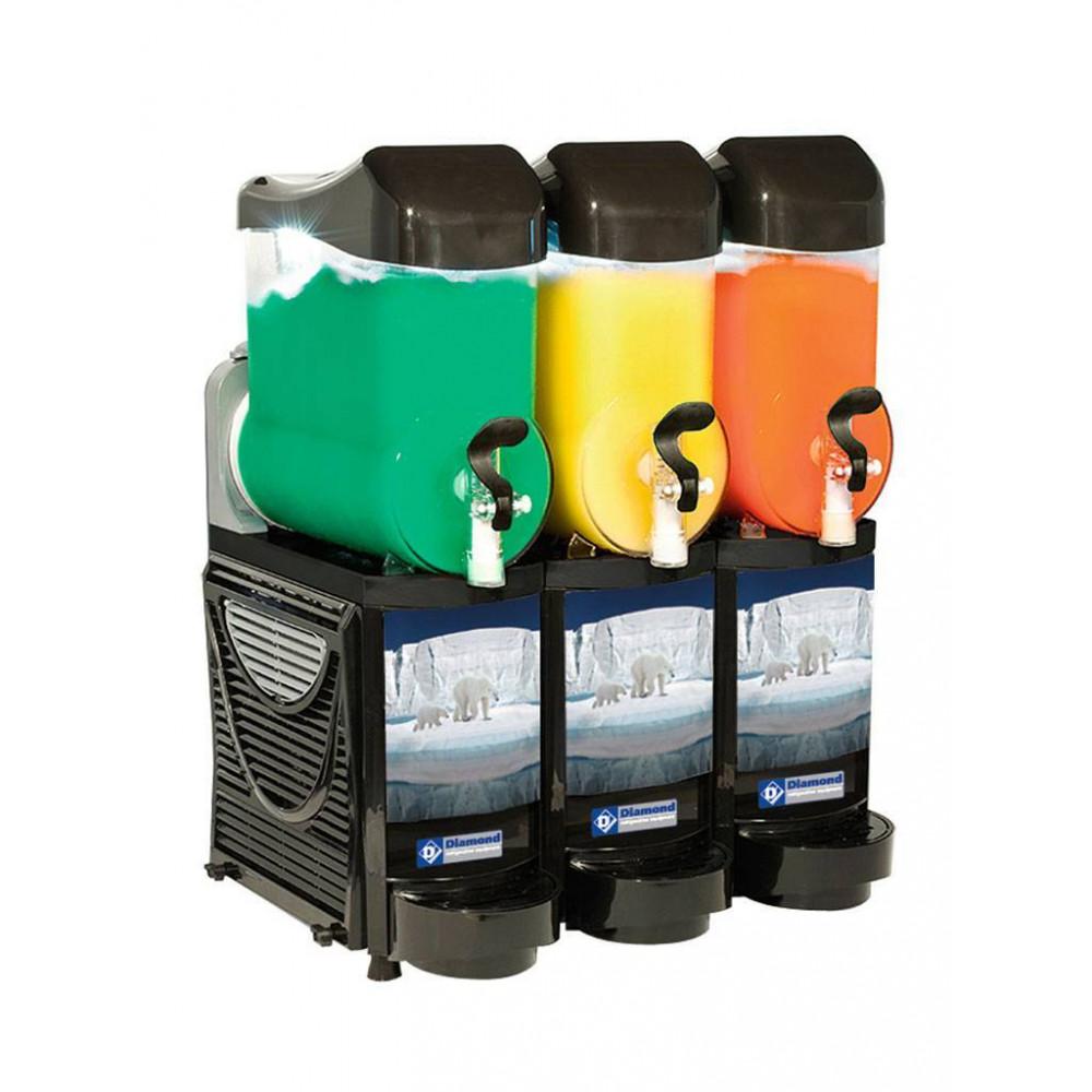 Slush machine - 3 x 10 liter - Led - FABY-3/CB - Diamond