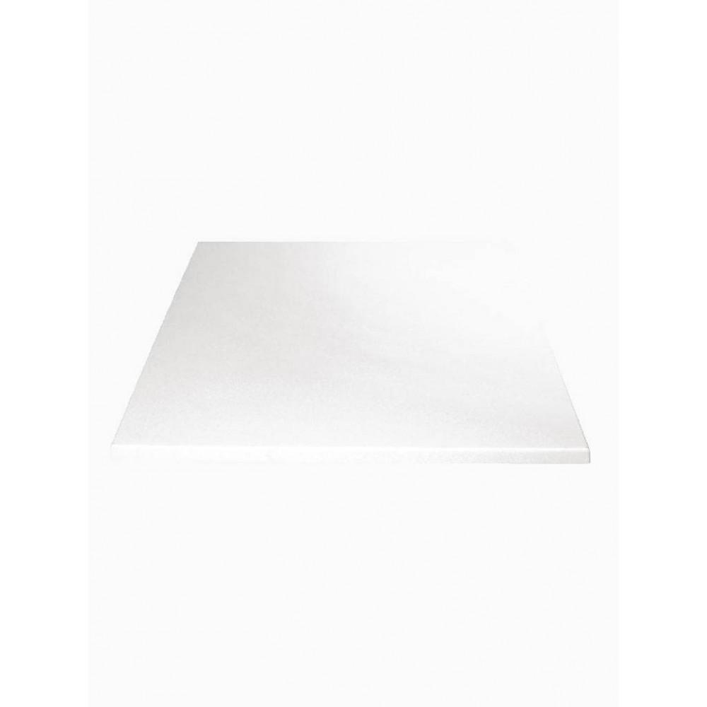 Tafelblad - 60 x 60 cm - Wit - Vierkant - Bolero - GG637