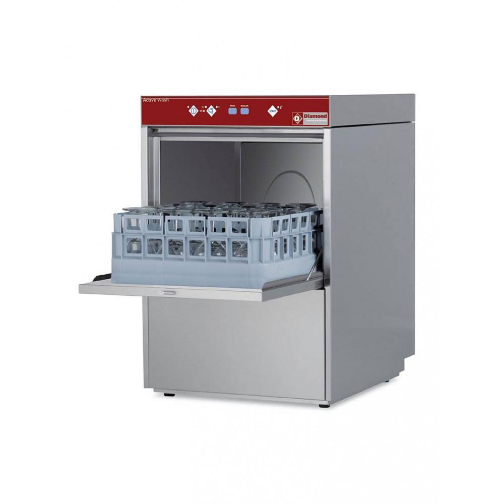 Horeca glazenwasser - 40 x 40 mand - Waterontharder - 230V - Active wash - D281/6-A - Diamond