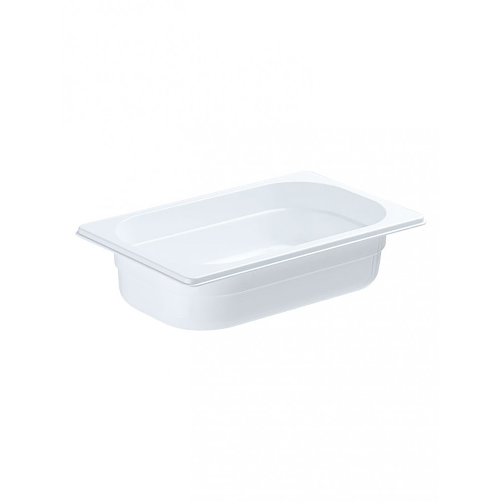 Gastronormbak - Polycarbonaat - Wit - 1/4 GN - 100 mm - Promoline