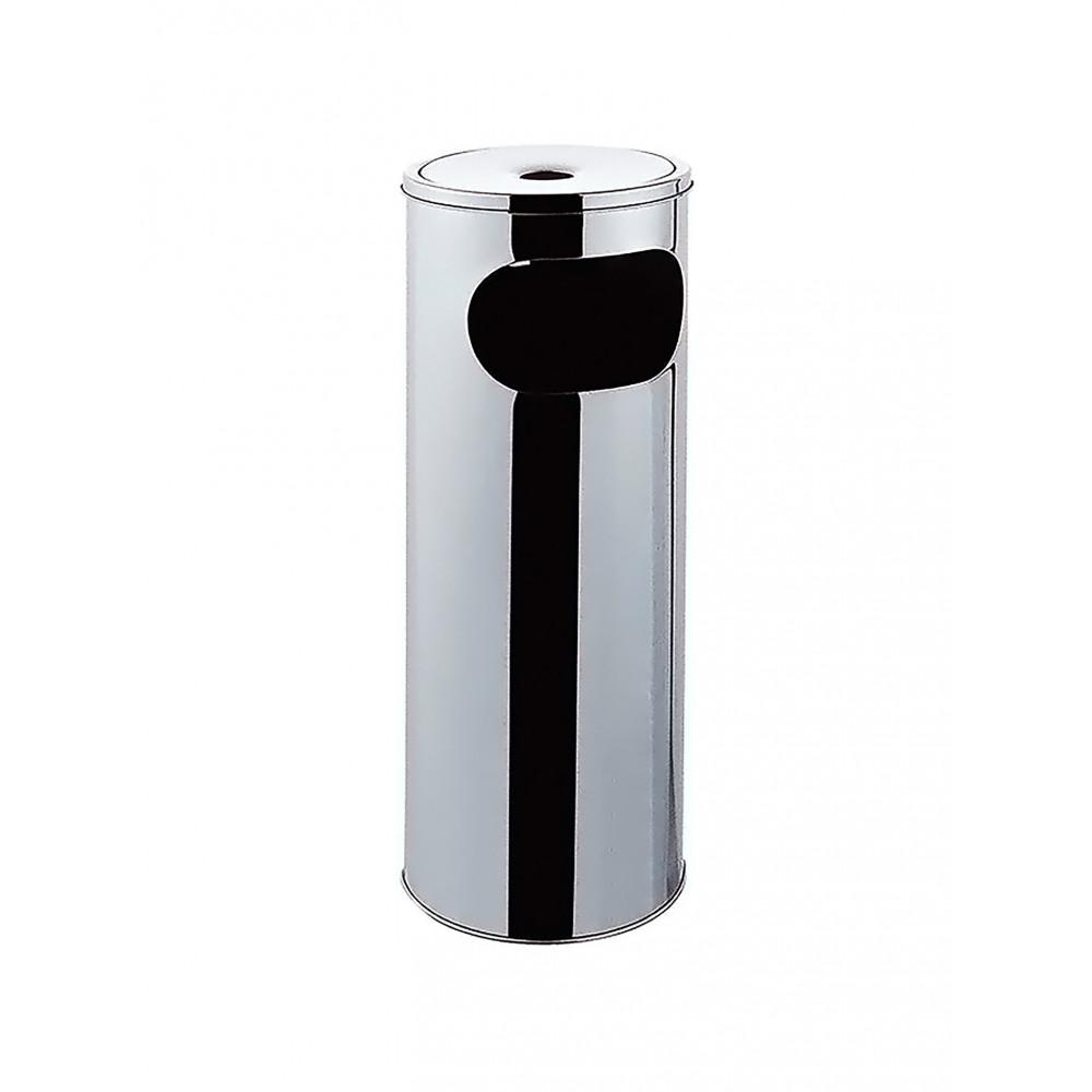 Afvalbak met asbak - 30 Liter - RVS - Promoline