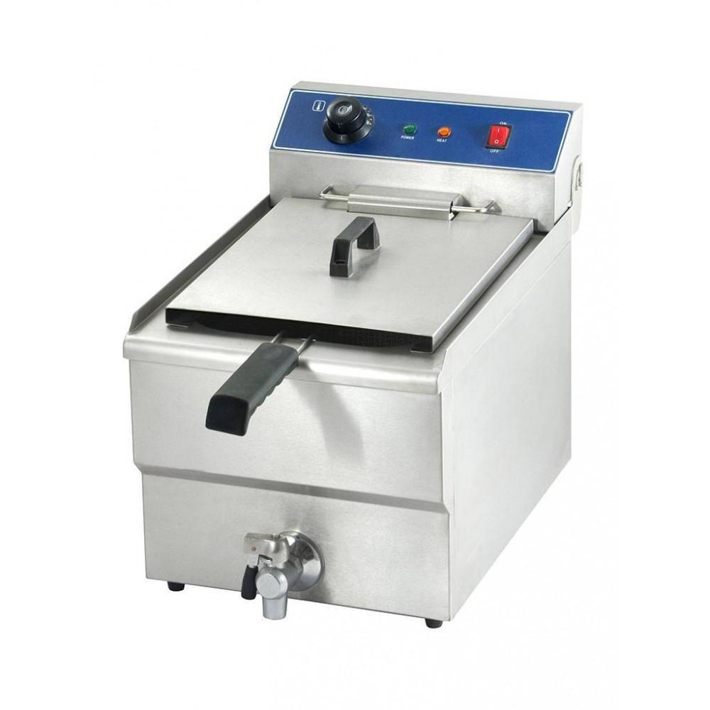 Promoline - 10 liter - Aftapkraan - 400V - 058146 - Horeca friteuse