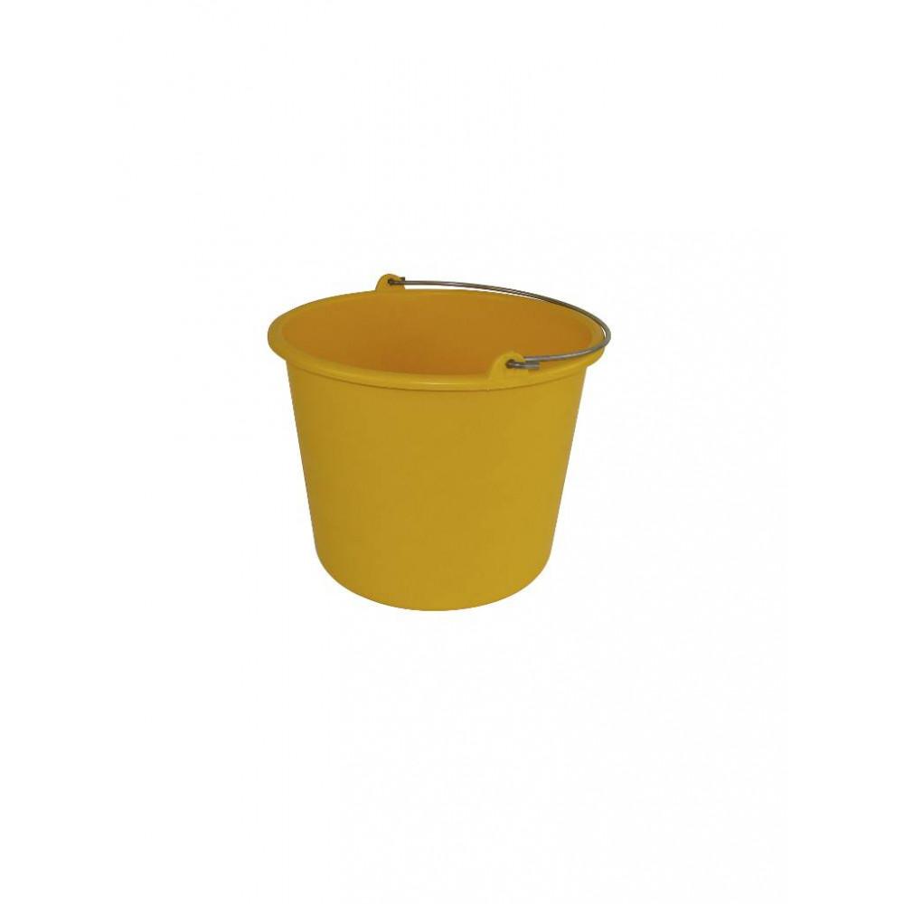 Emmer - Kunststof - 12 liter - Geel - 651056