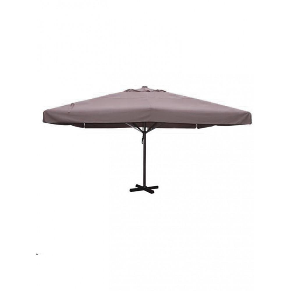Markt parasol - Karin - Taupe - 400 x 400 CM - Promoline