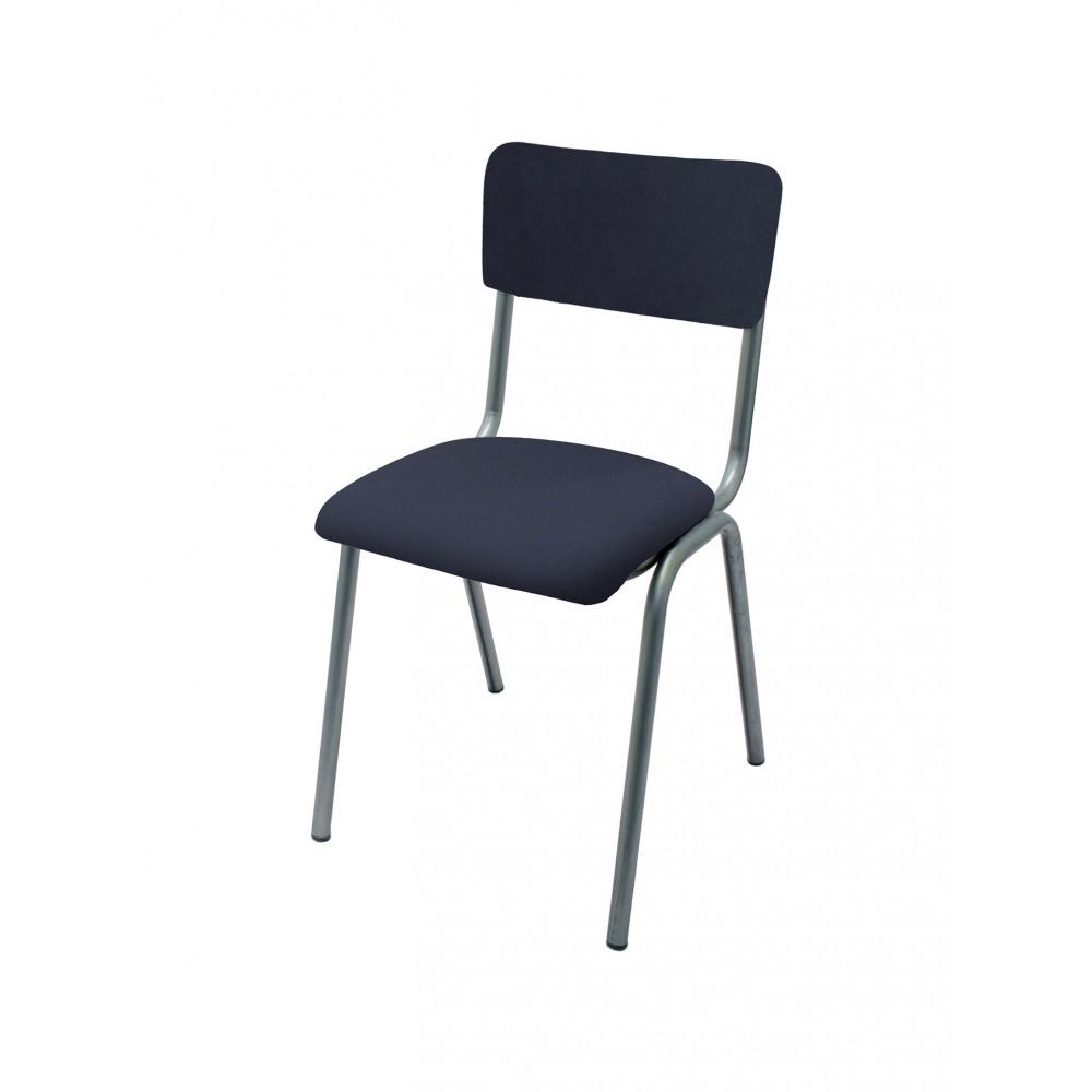 Horeca stoel - Old School - Vintage Metal - Velvet Donker Blauw - Promoline