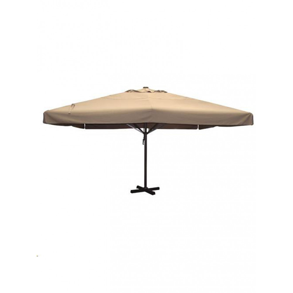 Markt parasol - Karin - Taupe - 500 x 500 CM - Promoline