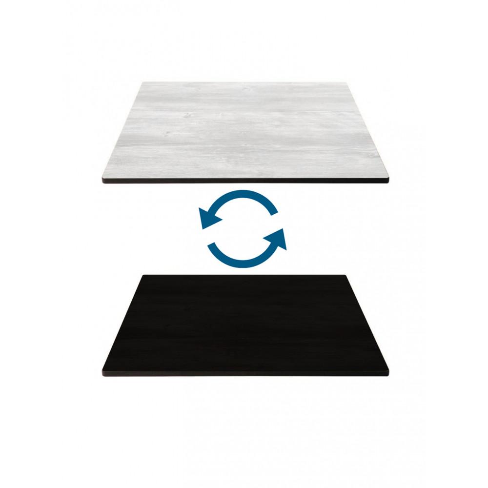 Tafelblad HPL - 70 X 70 CM - Zwart & Wit - Promoline