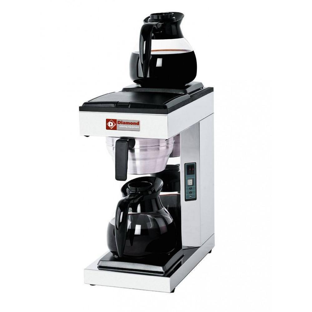Koffiezetapparaat - 1 groep - 2 verwarmplaten - Wateraansluiting - PCF-A2 - Diamond