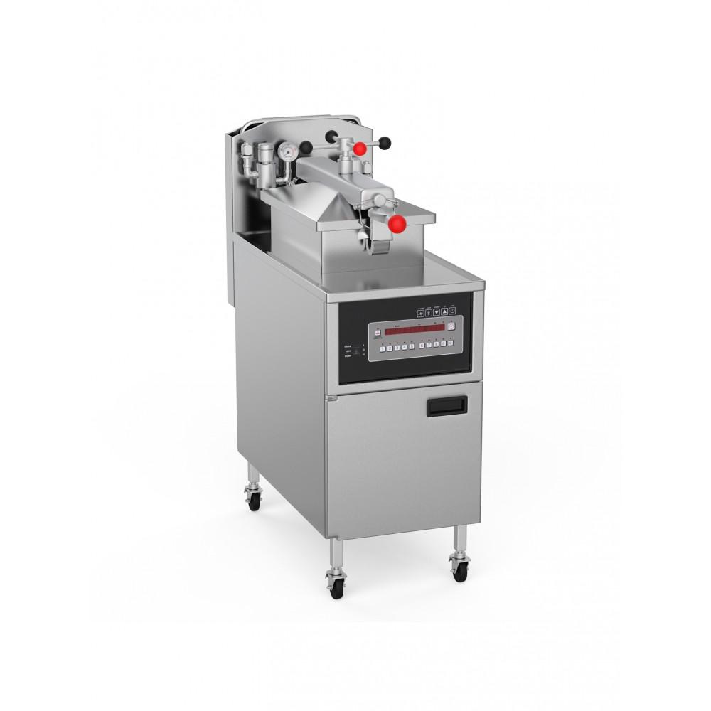 Hoge Druk Friteuse 24 Liter - Aardgas - Digitaal + filter - High Pressure - Promoline