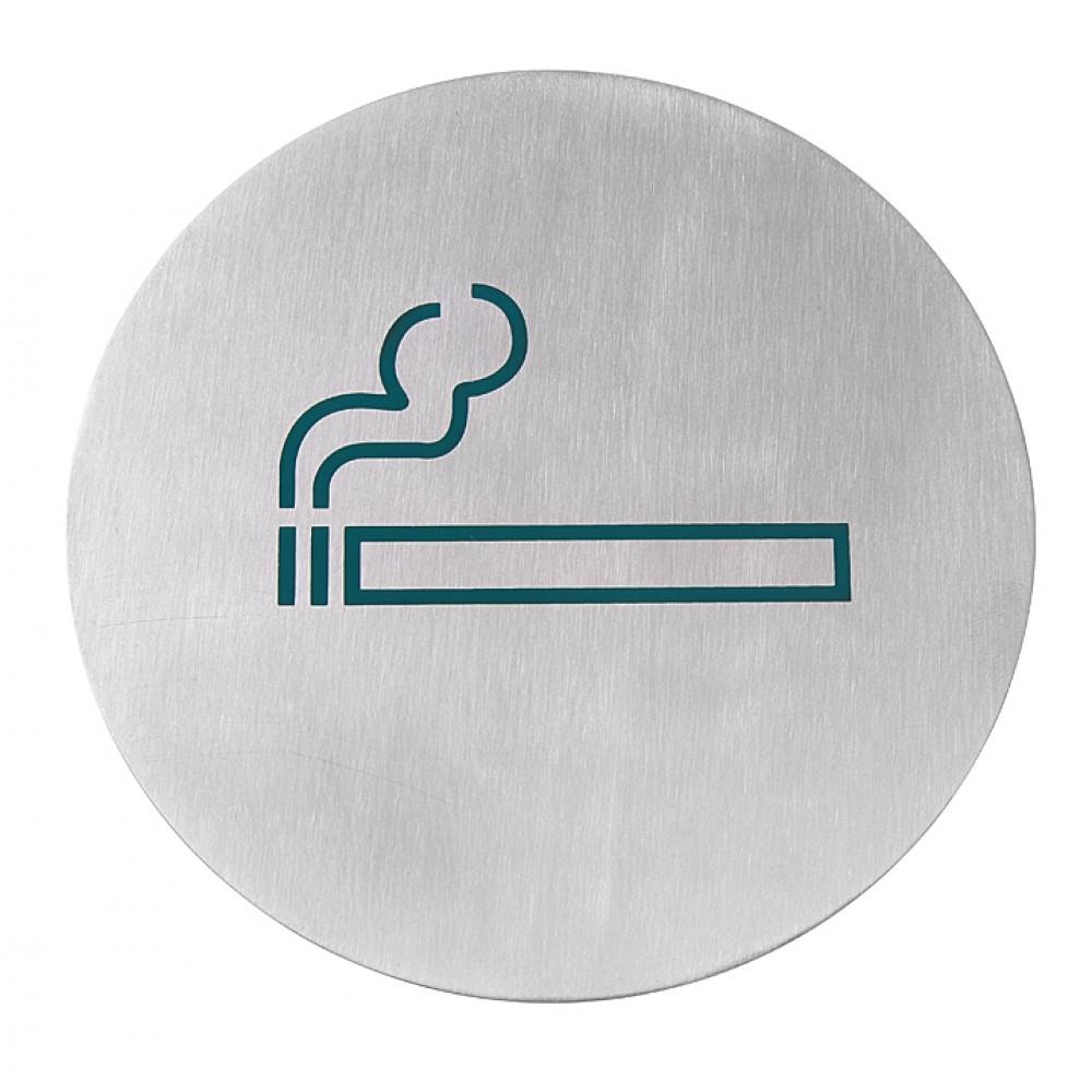 Muurschildjes - Roken - Ø 7,5 cm - RVS - 663789