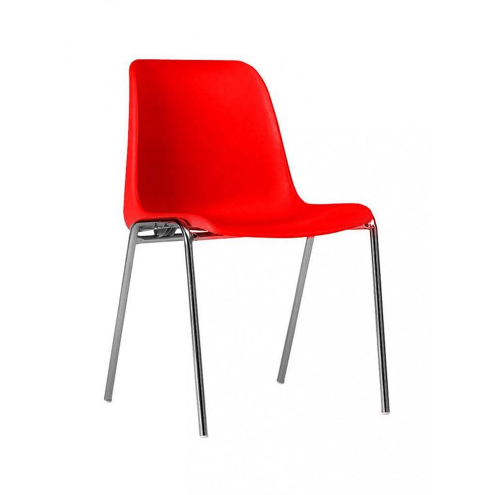Horeca stoel - Helene - Rood - Stapelbaar - Promoline