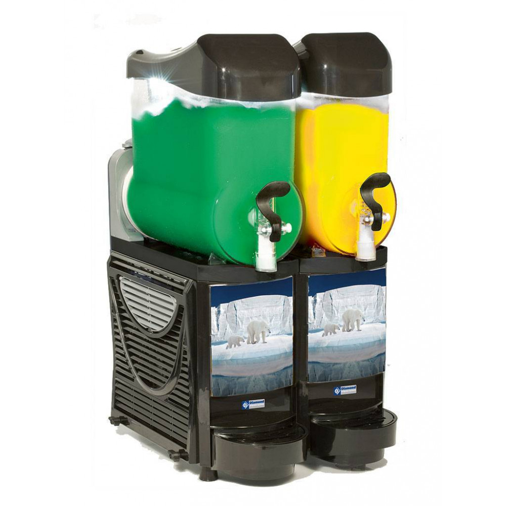 Slush machine - 2 x 10 liter - Led - FABY-2/BB - Diamond