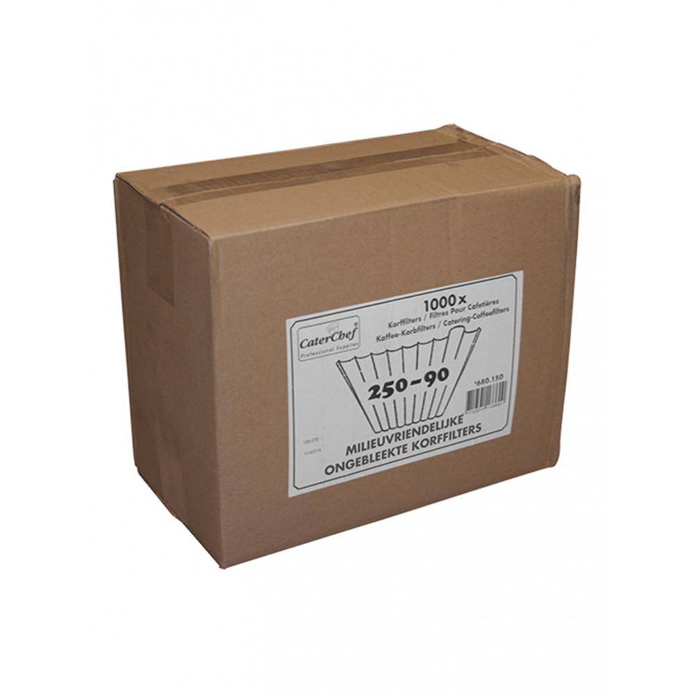 Koffiefilters - 1000 stuks - Ongebleekt - CaterChef - 680150