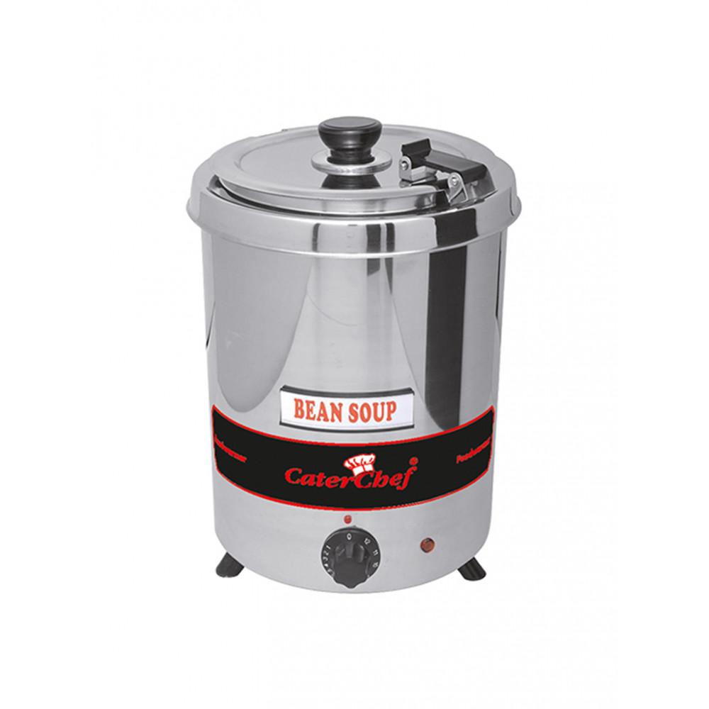 Soepketel - H 35.2 CM - 3.32 KG - Ø28.5 CM - 220 - 240 V - 300 W - RVS - 5.7 Liter - Scharnierend Deksel - Caterchef
