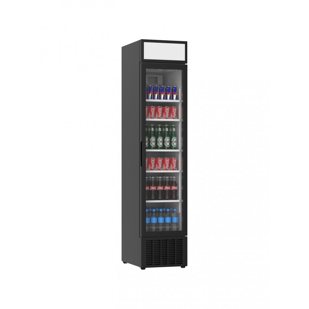 Displaykoeler - 265 Liter - 1 Deurs - Zwart - H207.7 x 45 x 59.5 CM - Promoline