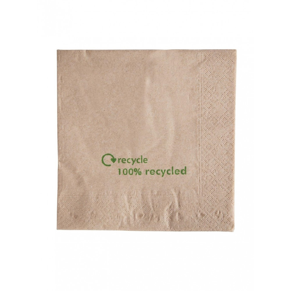 Gerecyclede servetten - 2-laags - Kraftpapier - GH031