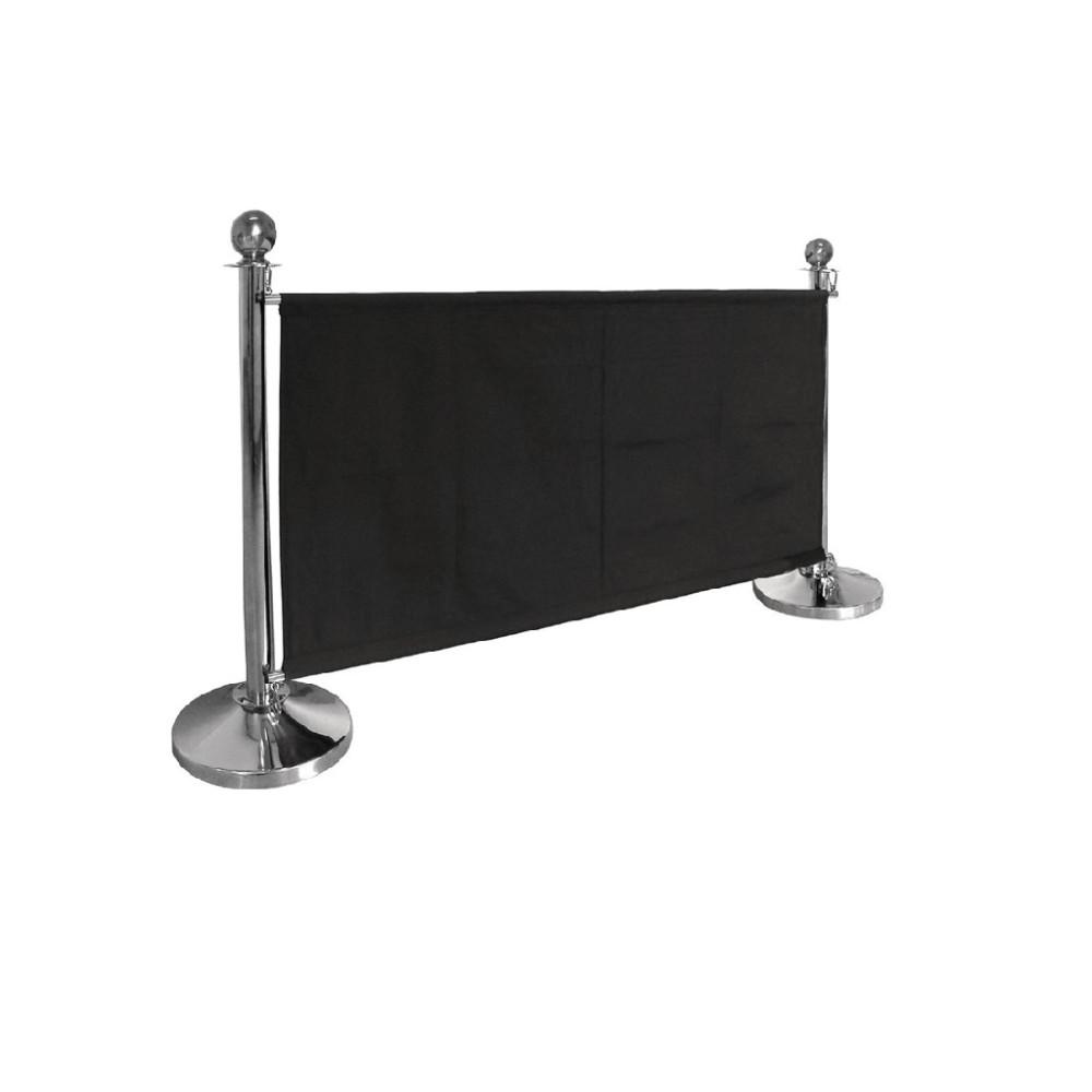 Canvas afzetdoek zwart - Excl. palen - CF137 - Bolero