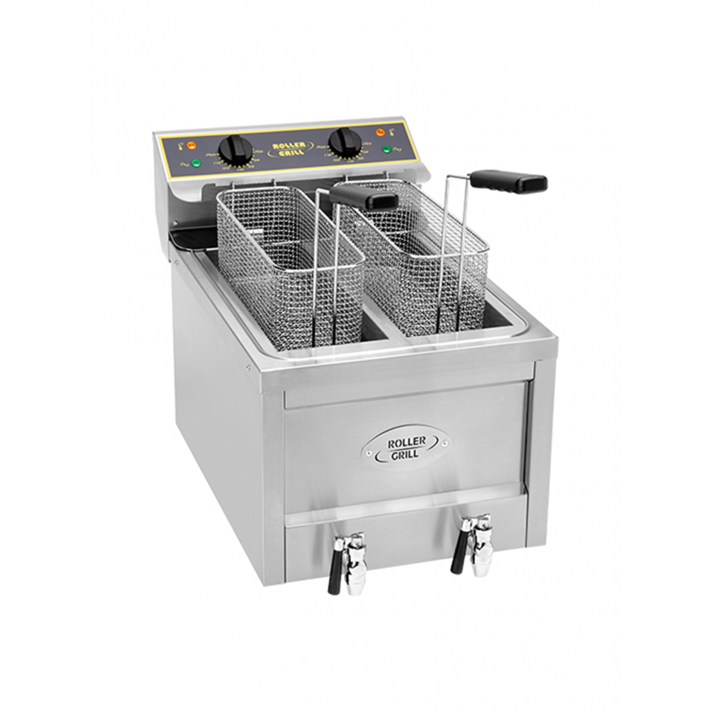 Friteuse - H 44.5 x 40 x 60 CM - 23 KG - 220 - 240 - Zonder - Stekker V - 3000 W - RVS - 8 Liter - Elektrisch - Roller Grill - 304111