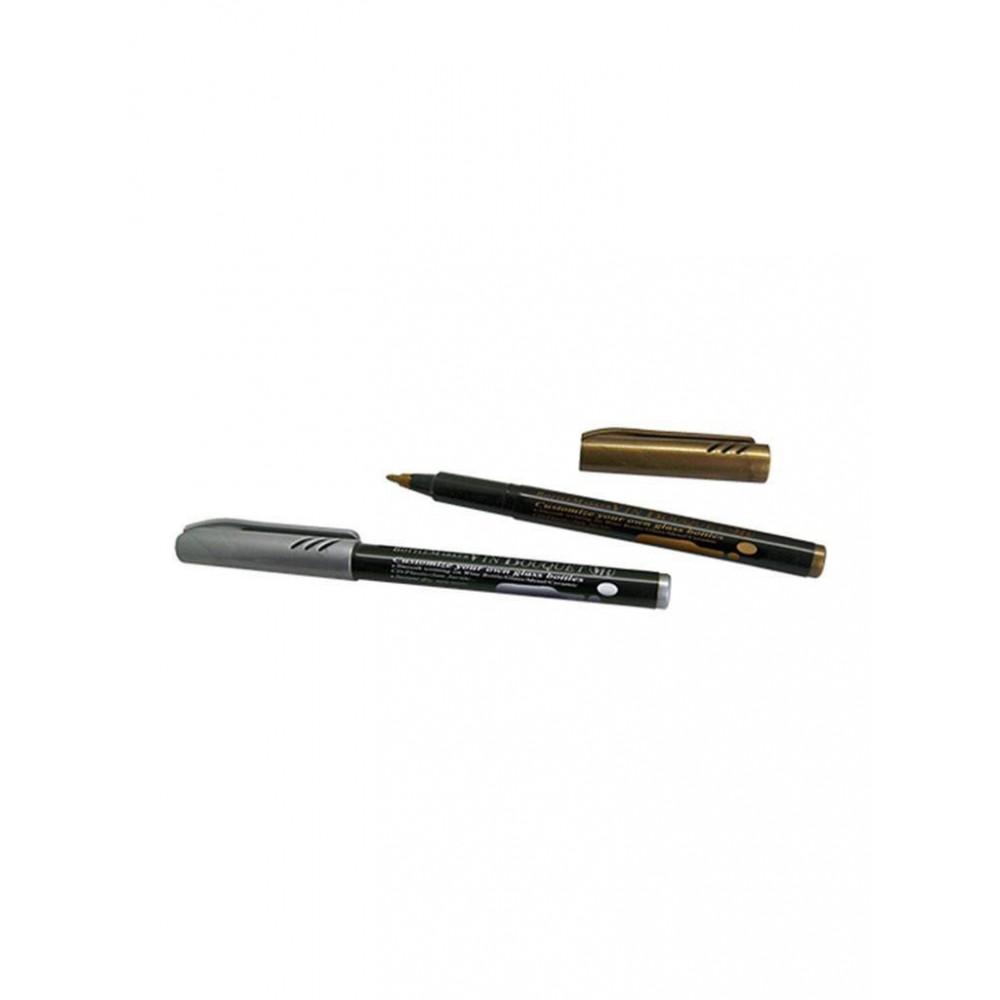 Wijnfles Stiften - Zilver en Goud - 220008