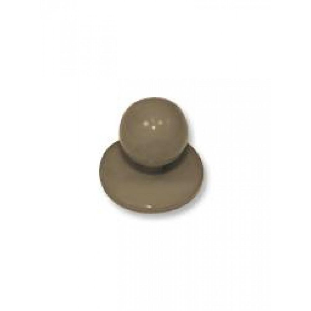 Chaud Devant - Studbuttons Taupe (20pcs) - Accessoires - Maat 20 pieces