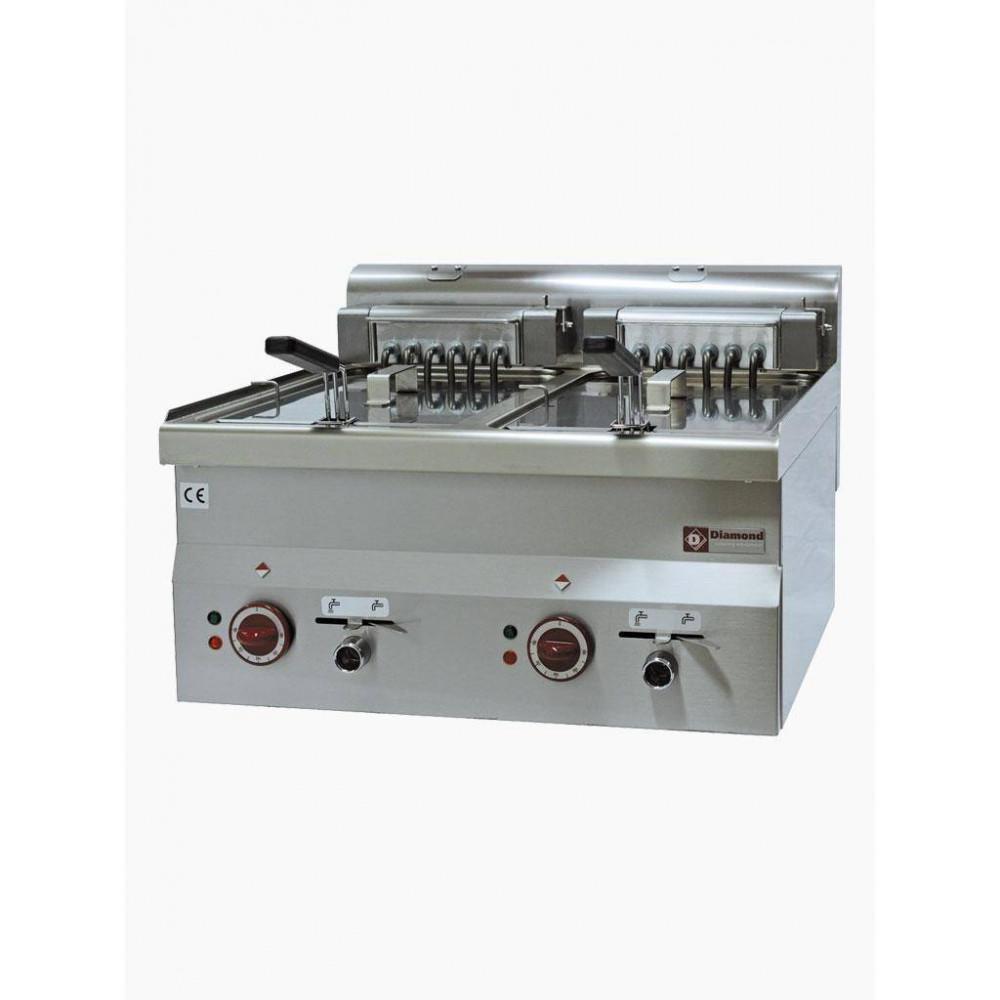 Elektrische friteuse - 2 Kuipen van 10 L - E60/F20-6T - Diamond