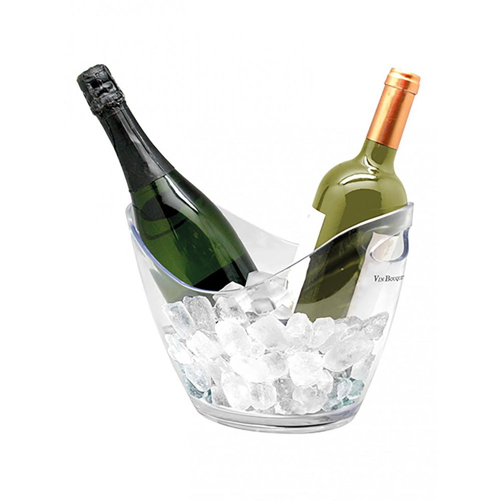 Wijnkoeler - H 27 x 20 x 20 CM - 0.59 KG - Polystyreen (Ps) - Transparant - Vin Bouquet - 130255