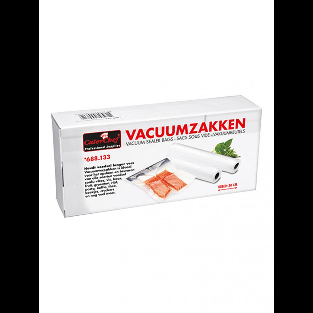 Vacuumzakken - 30 CM breed - Set 2 rollen - 6 meter - Caterchef - 688133
