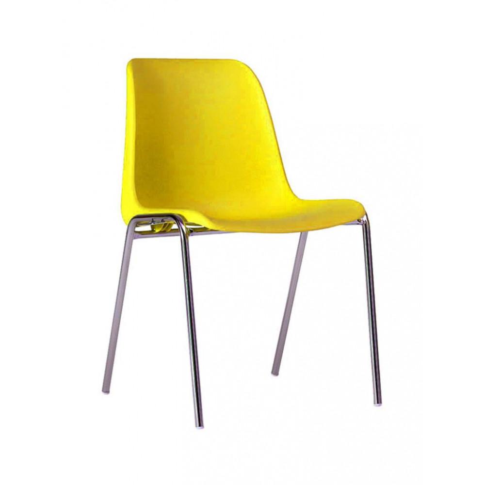 Horeca stoel - Helene - Geel - Stapelbaar - Promoline