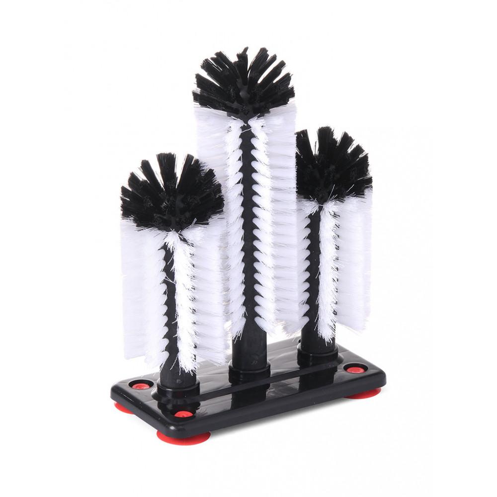 Glazenspoelborstel Hoog - Plastic - Hendi - 696040