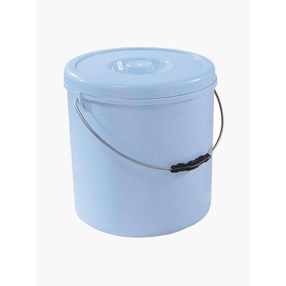 Emmer met deksel - 10 L (grijs)