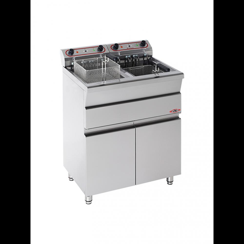 Friteuse - H 90 x 73 x 58 CM - 30 KG - 380 - 415 - Zonder - Stekker V - 7000 W - RVS - 15 Liter - Elektrisch - Stilfer - 527315