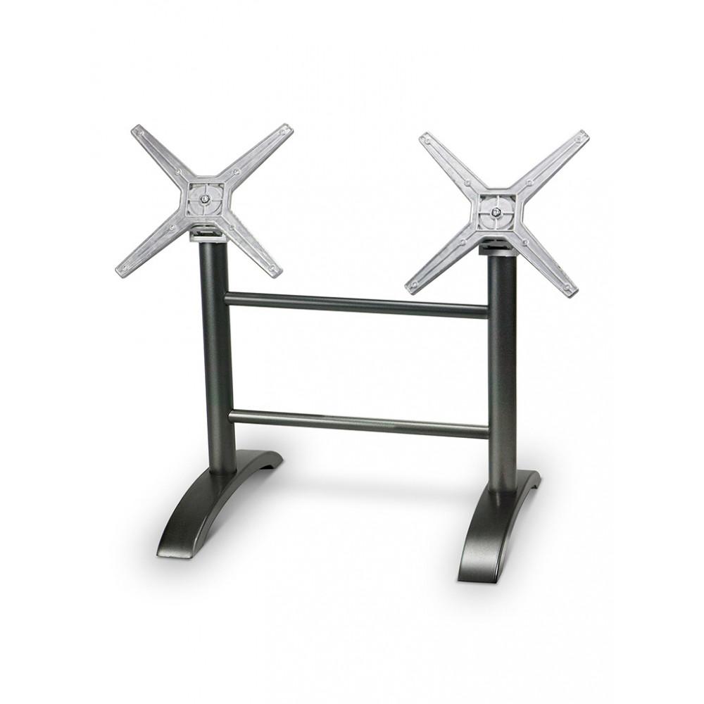 Tafelonderstel / Tafelpoot - Avilia Rect - Breed - Zwart - Promoline