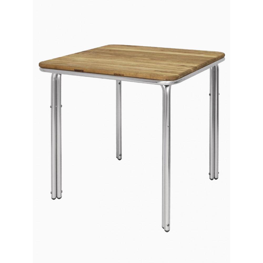 Bolero Essen / Aluminium - Vierkant 70 cm | Horeca tafel