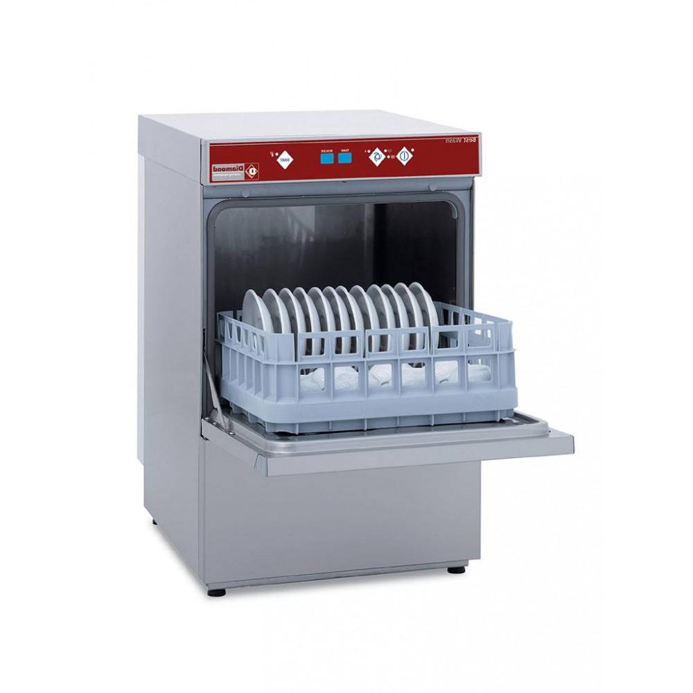 Horeca glazenvaatwasser met doorlopende waterontharder - 40 x 40 mand - 230V - Best wash - DBS5/6-AC - Diamond