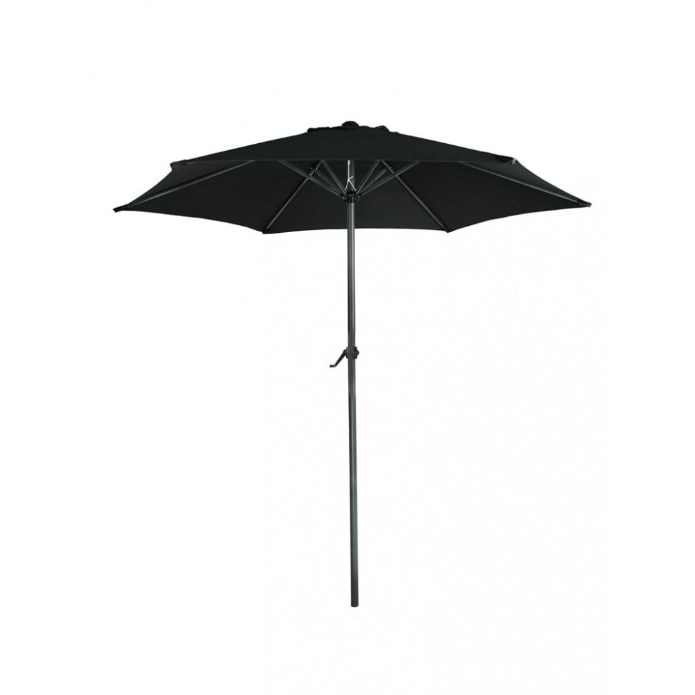 Parasol Mambo rond - 300 cm doorsnede - Zwart