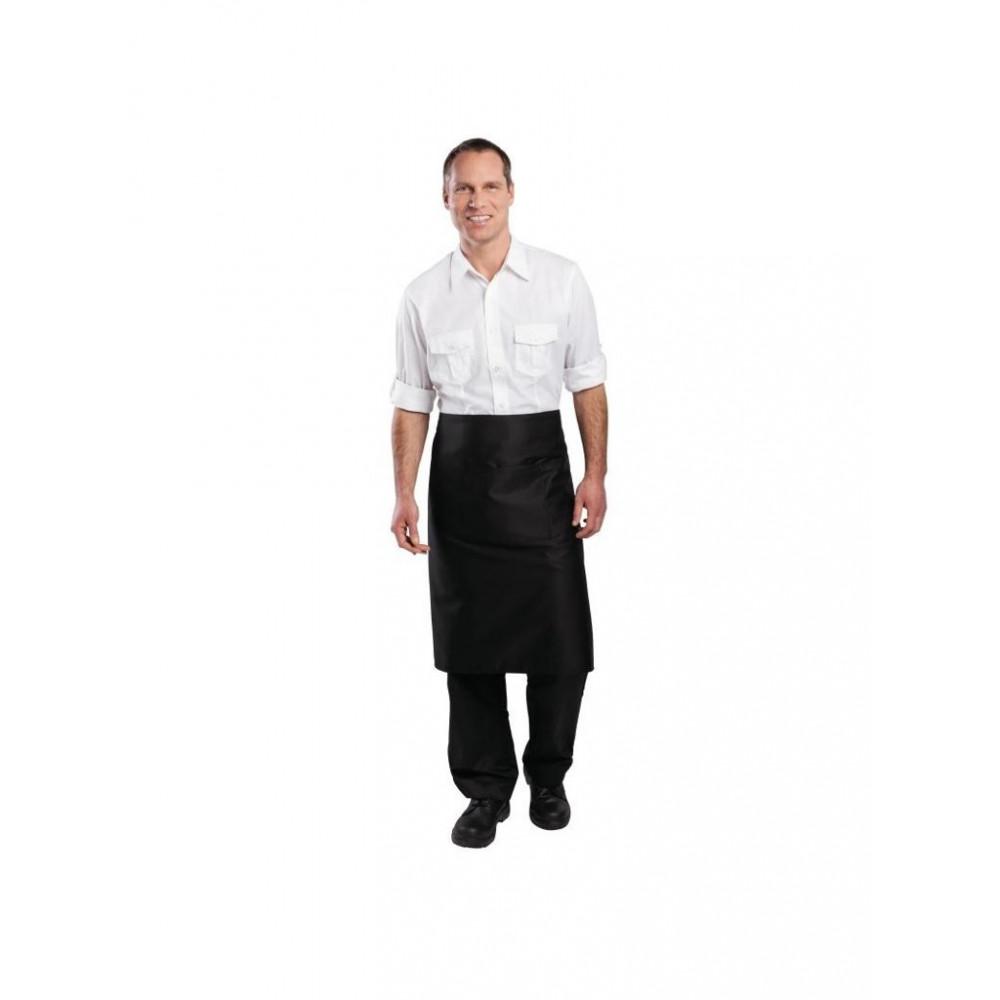Standaard bistro sloof - Zwart - Whites Chefs Clothing - B133