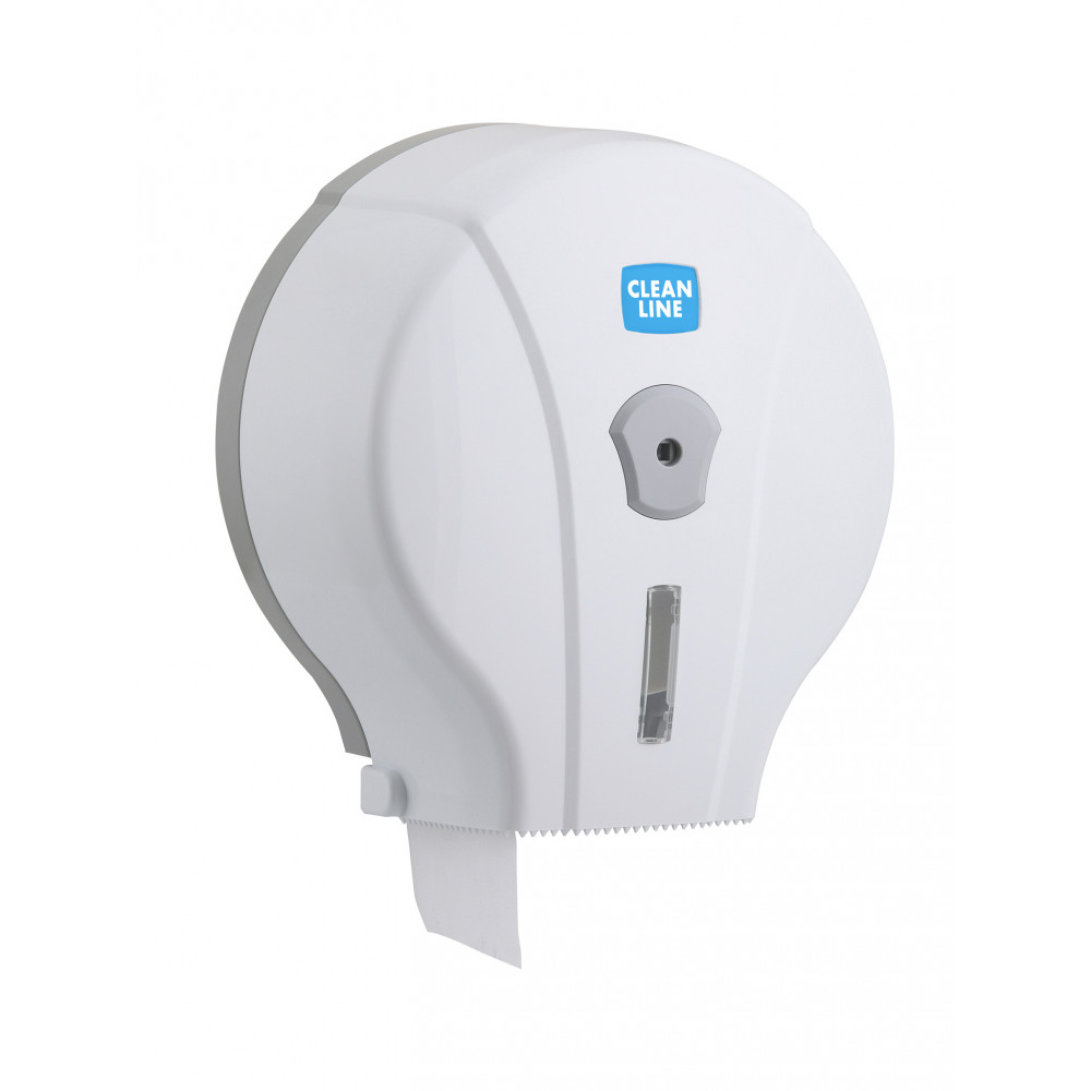 Toiletpapier Dispenser - Maxi Jumbo - Wit - Promoline - Cleanline
