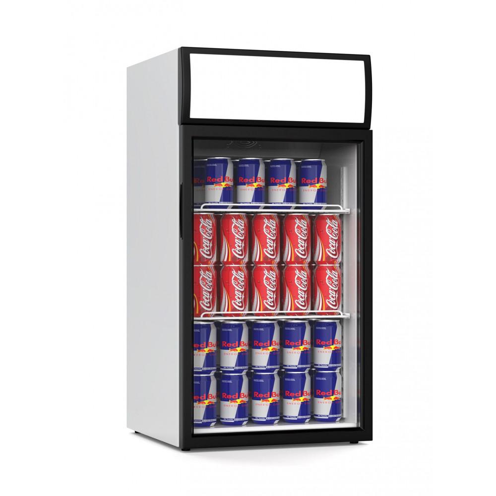 Promoline - 80 liter - 1 deurs - 02469 | Koelkast glazen deur