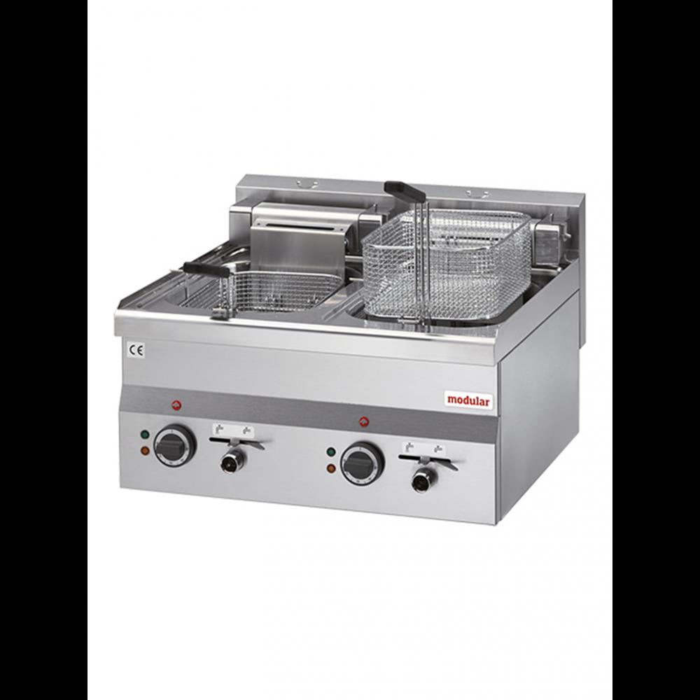 Friteuse - H 28 x 60 x 60 CM - 26 KG - 380 - 415 - Zonder - Stekker V - 15000 W - RVS - 10 Liter - Elektrisch - Modular - 316655