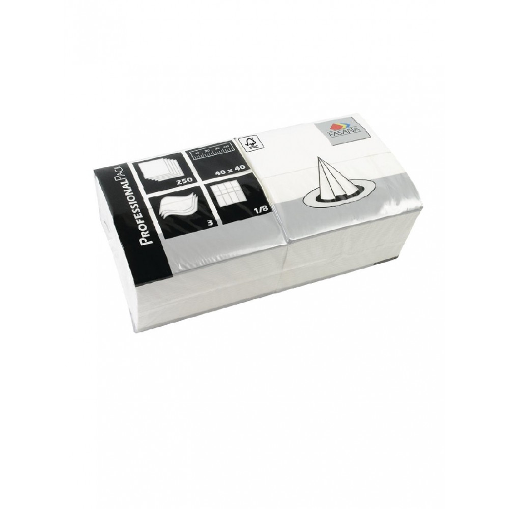 Professionele servetten - Wit - Papier - 40x40 cm - GD125