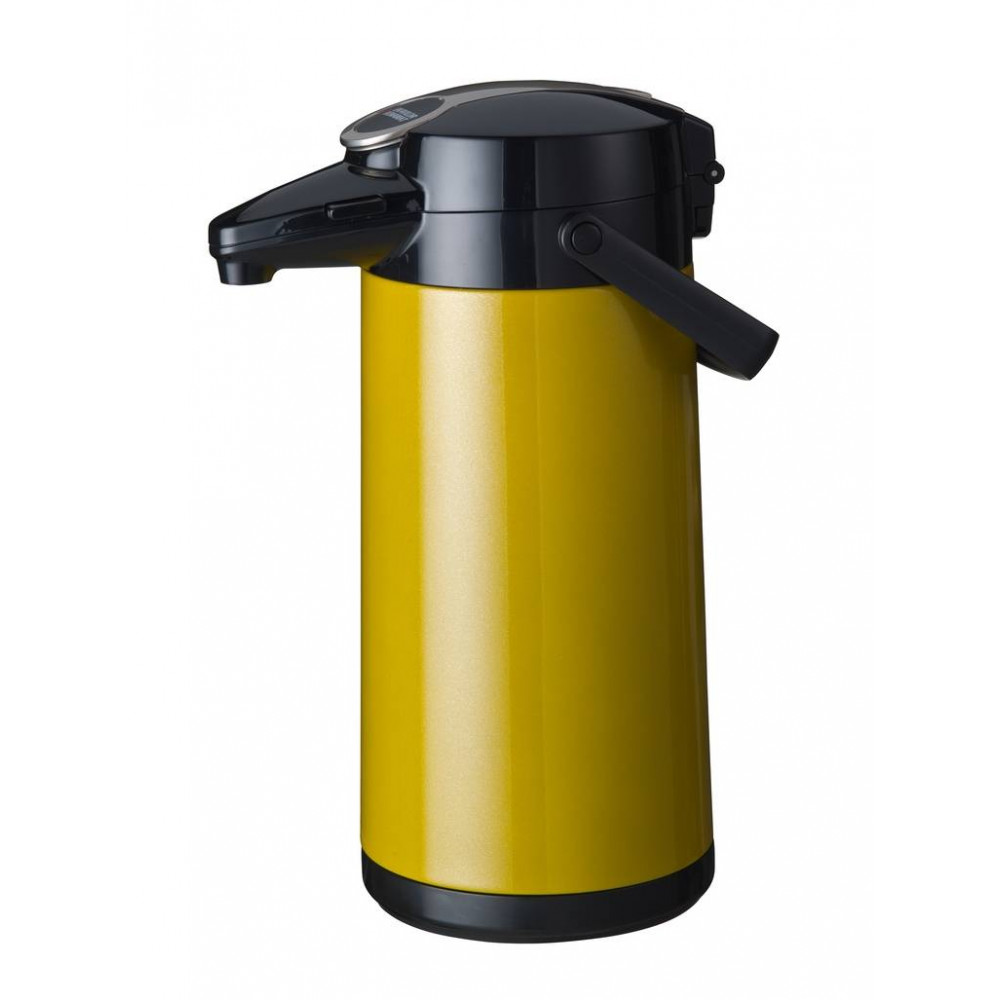 Airpot Furento - 2.2 liter - Geel/RVS - Bravilor