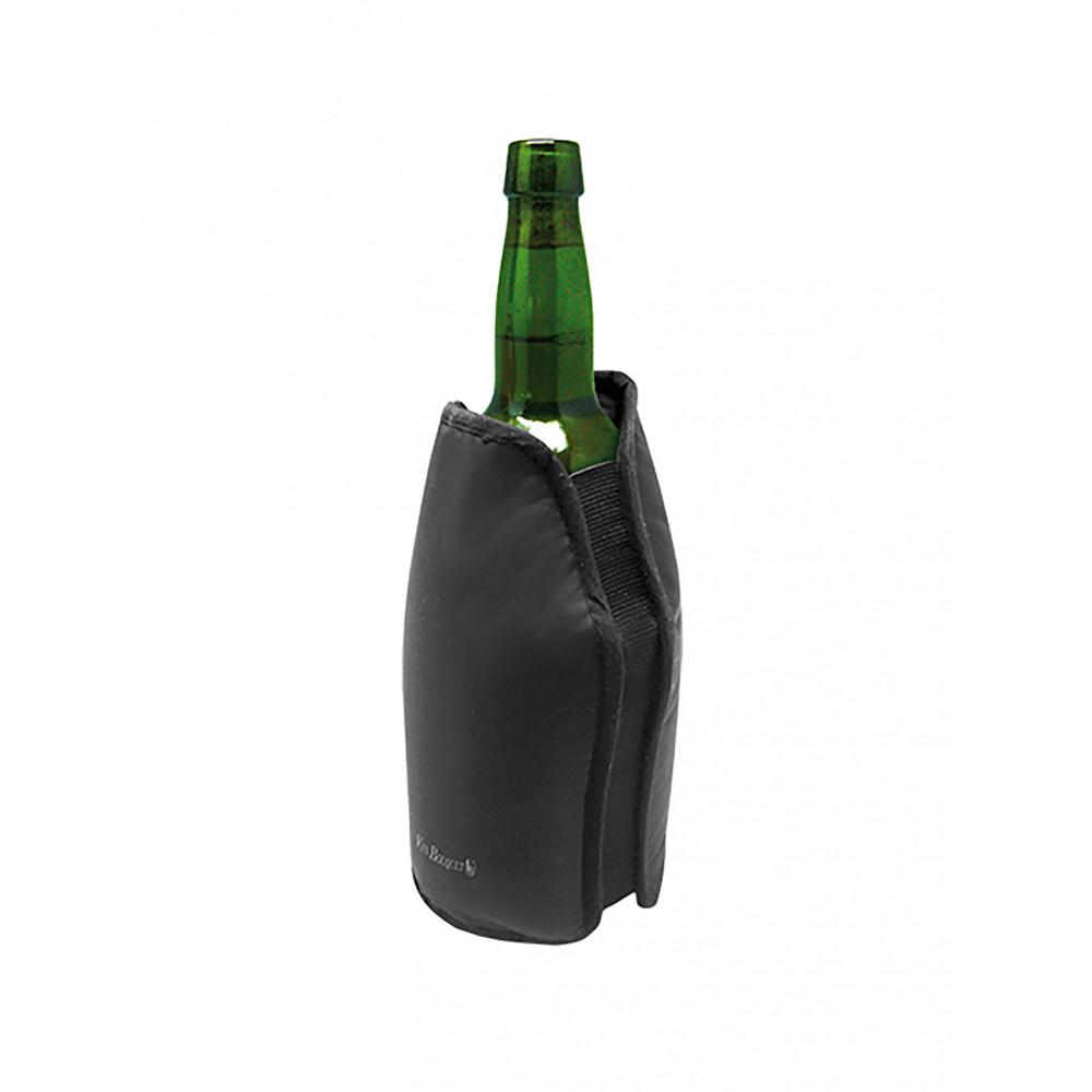Wijnkoeler Jas - H 23.5 x 16 CM - 0.49 KG - Polyvinylchloride (Pvc) - Zwart - Vin Bouquet - 220007