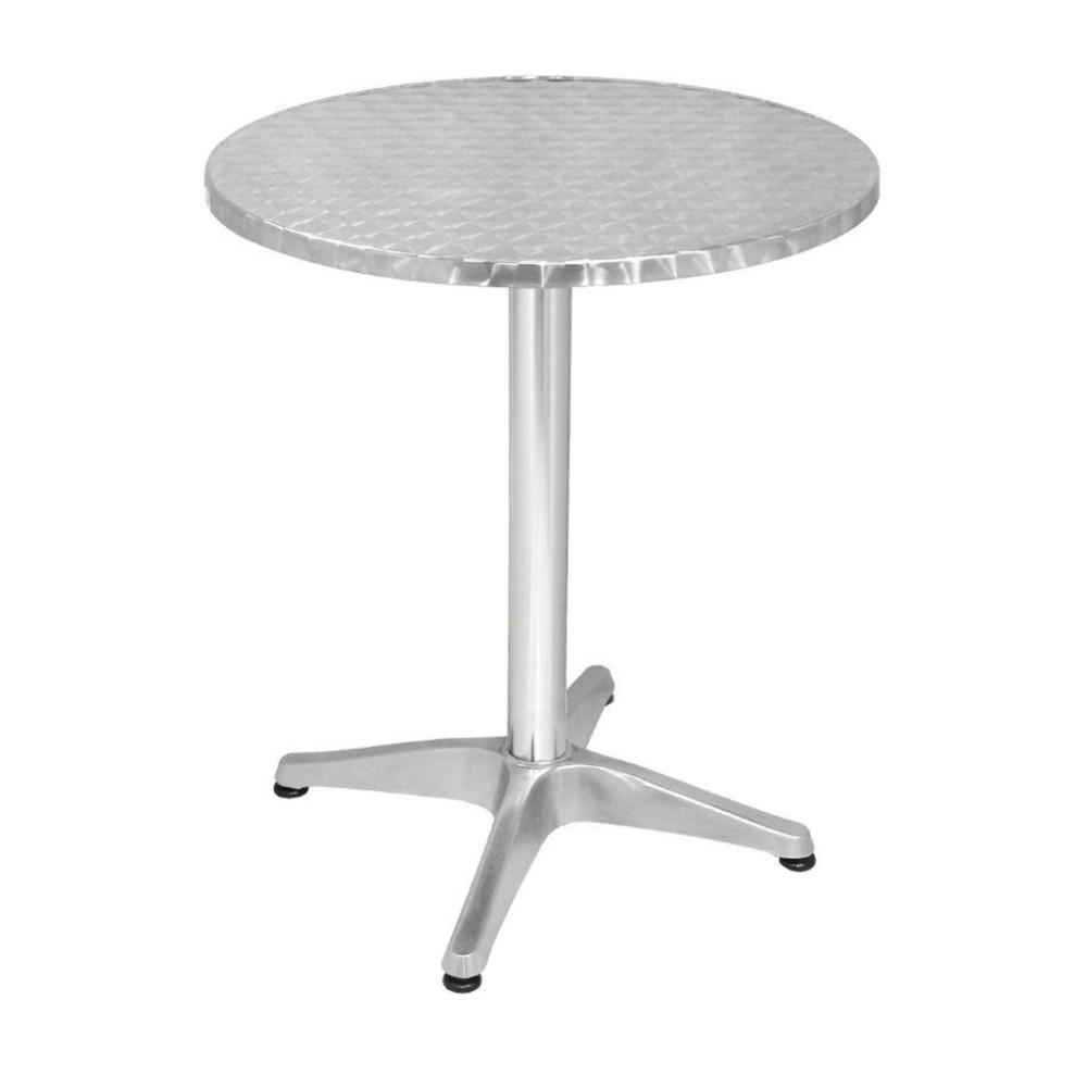 Terrastafel inklapbaar - Ø60 cm - Bistro - Chroom - Aluminium - Promoline