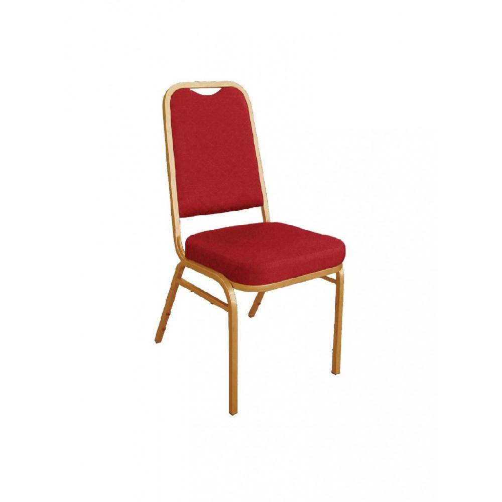 Banketstoel met vierkante rugleuning rood - 4 stuks - DL016 - Bolero